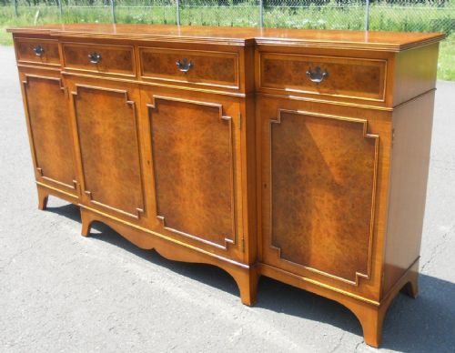 Large Walnut Breakfront Sideboard by E G Hudson